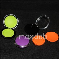 Wholesale Glass Clam Shell Wholesale - 2016 Hot Selling 6ml silicone containers, acrylic clam shell container,glass bong silicone jars dab wax containers free shipping DHL