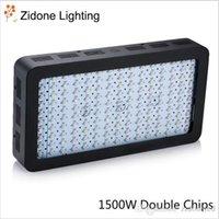 schwarzlichtspektrum großhandel-1500W Black Double Chips LED Wachsen Licht Full Spectrum 410-730nm Für Zimmerpflanzen und Flower Phrase Sehr hohe Ausbeute