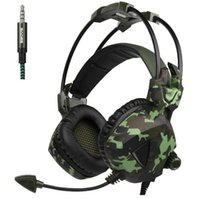 Wholesale Headphones Camouflage - Sades SA-931 Camouflage Pattern PS4 Gaming Headset Stereo Bass Headphones with microphone for PC Mobile phones Laptop Gamer