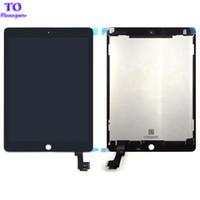 neue ipad lcd großhandel-Neue a1567 a1566 lcd bildschirm montage für ipad air 2 ipad 6 lcd montage bildschirm display digitizer assembly schwarz weiß