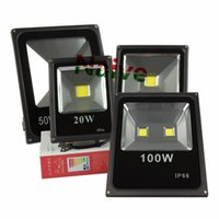 Wholesale Ac Led Green - 10W 20W 30W 50W 70W 100W Outdoor Waterproof LED Flood Light RGB Red Green Blue Warm Cold White Lighting LED Floodlights AC 85-265V