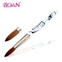 Wholesale Oval Kolinsky Brush - Wholesale- BQAN Superior #20 Oval Form Pure Sable Nail Brush Acrylic Brushes Kolinsky Nail Art Brush Free Shipping