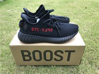 Wholesale basketball boots wholesale - 350 Boost Sply V2 CP9652 Black Red Kanye West CP9654 Zebra Shoes Running Shoes Man Core Black Red BY9612 Sports Shoes Size