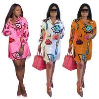 Wholesale Lining Shirt Sale - Fashion Shirt Dress Long Sleeve Prints Women's Mini Dress Sexy Casual Shirt Dresses Ladys's Clothing Hot Sales