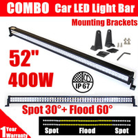 52 '' 400W Led Light Bar Spot Flood Combo Beam Work Light pour véhicules hors route Camion de voiture UTE Boat Jeep 4WD DRL Driving Lampe 12V 24V