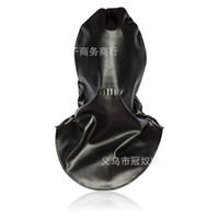 2017 Новый Бондаж Качественная кожа Gimp Fetish Bondage Hood Sex Hood Headgear Mask Adult Game Product