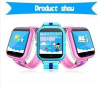 Wholesale Unlocked Quad Band Smart - Kids Smart Watch Phone GPS Tracker Security Monitor Anti-lost SOS Children GPS Wrist Watch Phone GSM Unlocked Quad-band with Retail Package