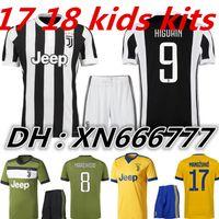 0a0957848 Soccer Boys Short DYBALA HIGUAIN kids 3rd jersey soccer kits 17 18 POGBA  soccer jerseys 2017  Cheap NFL Football Jerseys China Wholesale