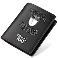 Wholesale American Psycho - Mob Psycho 100 wallet Mobu Saiko Hyaku purse Leather short long cash note case Money notecase Loose change burse bag Card holders