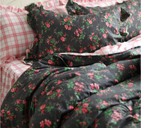 Wholesale western style beds for sale - Export western style smoky pastoral style Single double bedding sets queen king cotton home textile bed dress pillow case duvet cover