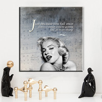 Wholesale Marilyn Monroe Art Posters - ZZ985 modern canvas posters and prints art marilyn monroe portrait canvas pictures oil art painting for livingroom bedroom decor