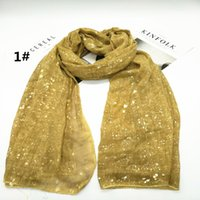 Wholesale Hot sale solid color codiaeum scarf shawl pashmina women Muslim hijab fashion soft