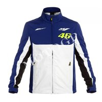 Wholesale Motorcycle Fit - Wholesale- VR46 Hoodie LOGO M1 Fit Moto gp shirt motorcycle suit jacket off-road warm clothes anti-gray windbreaker