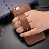 étui en cuir iphone5 achat en gros de-Multifonction de mode rétro imitation cuir téléphone étui souple en TPU gel avec support étui housse pour iphone7 6 6splus iphone5 5s se