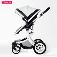 Wholesale two way stroller - New arrive Baby Stroller High View Prams Four Wheel Can Sit Baby Trolley Can Be Folded Two-Way baby carriage portable stroller