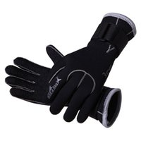 Wholesale Wetsuit Swimming Man - Wholesale Dropshipping Men women 3mm Neoprene Skid-proof Wetsuit Gloves Swimming Surfing Diving Gloves Scuba dive Snorkling