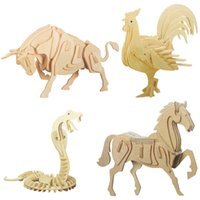 Wholesale Wood Model Kits For Adults - 3D Wooden Puzzles Animal Model Assemble Kits Educational Toys for Children and Adults Puzzle Gift For Kids