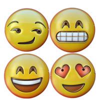 beaux masques achat en gros de-Masques Emoji EMS gratuits Masques QQ Emotion Party Mignon Beau Masque Bauta Masque Emoji Halloween Cadeaux De Noël HH7-38