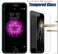 Wholesale Verizon Wholesalers - For Alcatel A30 Verizon metropcs For zte A603 Z17 mini V8 lite V8 mini huawei Y5 2017 Tempered Glass Screen Protector Film