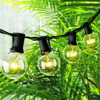 Wholesale Hanging Globe Lights - String Lights with 25 G40 Globe Bulbs UL listed for Indoor Outdoor Commercial Outdoor Hanging Umbrella Garden Patio Lamp Lights