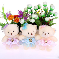 Wholesale Teddy Flowers Gift - NEW cute lovely teddy bear baby girl plush toys doll kid doll flower bouquets bear For Christmas Gift doll cute bears