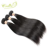 Wholesale Wholesale Virgin Burmese Hair - Wholesale-Malaysian Straight Hair 3 Bundles lot 100% Unprocessed Human Hair Weave,Grace Hair Products Malaysian Virgin Hair Straight