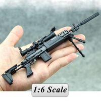 Wholesale Sniper Guns Toys - New MK14 MODO Sniper Rifle Weapon Gun Action Figure Model Toy (Color: Black)