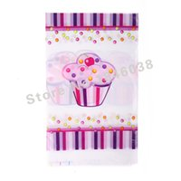 Wholesale Lovely cm disposable Birthday tablecloths Princess Ice Cream kids happy birthday party plastic tablecover supplies