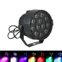 Wholesale mini flat light - Dj Disco Projector LED Flat Portable Mini AC 90 - 240V 12W Stage Par Lights 8CH 12 LEDs RGB Color Mixing Stage Lighting Effect