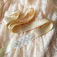 Wholesale Wholesale Designer Prom Dresses - Factory Price Women Designers Belt Wedding Supplies Bride Belts Party Prom Formal Dress Waistband European American Popular R159