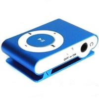 sehr clip großhandel-Großhandels-tragbarer Metallclip-MP3-Player Einfach-tragende MP3-Player-Unterstützung 8GB SD TF-Karte mit sehr bestem Kopfhörer