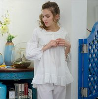9024e0e456 Nightgowns Warm Sleepwear Korean Girl Lace Embroidery Lovely leisure pajamas  Cotton Robes For Women Sleepwear Sets Onsie