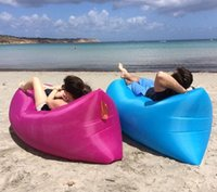 Wholesale inflatable air sofa lounger couch Beach camping sleeping bag Air Bed Lounger laybag Outdoor Hangout sofa