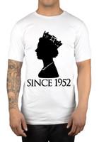 Wholesale Good Ideas - Queen Elizabeth II Since 1952 T-Shirt Monarch God Save The Queen Gift Idea Fresh Design Summer Good Quality