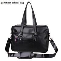 Wholesale Mini Uniform - Wholesale- Japanese Fashion School Bags College Students Uniform Single Shoulder Bag Handbags Portable Laptop Hand Bags for Youth Bolsas