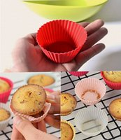 Wholesale Silicone Baking Molds Muffin - Silicone Baking Mold 7cm Cakes Molds Non-stick Muffin Snacks Gelatin Bakeware Cupcake Liner Baking Molds high quality