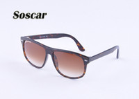 Wholesale Anti Ultraviolet - Soscar 4147 Sunglasses Men's Glass Sunglasses Driving Anti-ultraviolet Brand Design Sunglasses 60mm Free Shipping