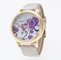 Wholesale Crystal Watch Silicone Band - Colors New Style Quality Women Watches Luxury Rhinestone Wristwatch Lady Crystal Dress Watch Female Leather Band Watch W099