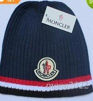 Wholesale Knitted Hats Tags - Free Shipping Spring Autumn Brand Mon Classic Fashion men knitting hat couple touca gorro Bonnet men Beanie skullies Caps with tag 6 color
