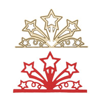 Wholesale Paper Dying - Golden Star Flower Branch Metal Embossing Cutting Dies Stencils DIY Scrapbooking Photo Album Paper Cards Decorative Craft Dies