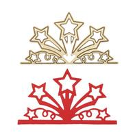 ingrosso die mestiere di carta tagliata-Golden Star Flower Branch Metallo Goffratura Taglio Muore Stencil FAI DA TE Scrapbooking Album di foto Carte di carta Decorative Craft Dies