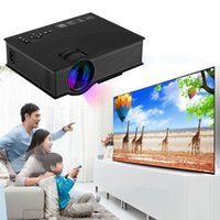 UNIC UC46 Projetor LCD 1200 Lumens 2.4G WiFi Wireless Portable LED Cinema em casa Cinema Multimídia 1080P USB / SD / HDMI / VGA / IR UC40