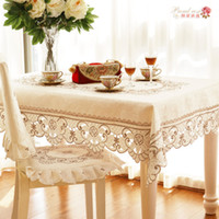 Wholesale Table Chair Covers Cushion - 1 Piece European Style Embroidered Round Table Cloth  High-grade Embroidered Tea Table Cloth  Modern Chair Cover Chair Cushion