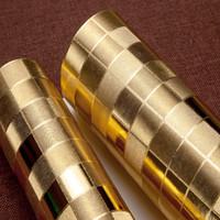ingrosso carta da parati di lusso di oro-Modern Luxury Gold Foil Carta da parati Rotolo Papel De Parede Argento Soggiorno camera da letto TV divano sfondo carta da parati Home Decor 3D