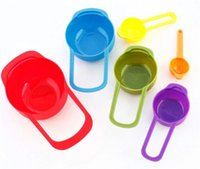 Wholesale Measuring Cups Spoons Set - New Kitchen Colorful Measuring Spoons Kitchen Colourworks Measuring Cups Spoon Cup Baking Utensil Set Kit Measuring Tools 6Pcs Set DHL free