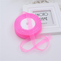 Оптовые- 20mm 50 ярдов / Rolls 45M Pretty Silk Organza Double Face Transparent Ribbon для свадебных баннеров