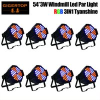 Wholesale Auto Watts - TIPTOP 8 Pack 54x3 Watt Red Green Blue Stage Light Led Par Can Disco DJ Stage Wedding Uplighting Theater Windmill Rotation Color Changing