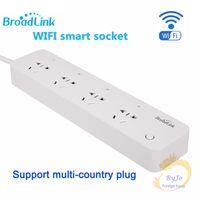 geniş bağlantı yuvası toptan satış-BroadLink MP1 Akıllı Güç Şeridi Soketi Ayrı Kontrol Edilebilir WiFi Akıllı Soket Akıllı Otomasyon için 4-Outlet Priz