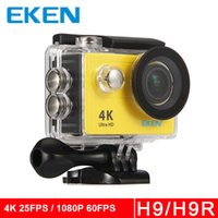 Wholesale Bike Camera Sport - Original Eken H9 H9R action camera 4K sport camer wifi Ultra HD 1080p 60fps 720P 120FPS Go waterproof mini cam pro bike video sports camera