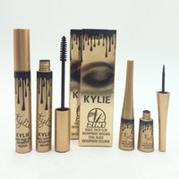 Wholesale Kylie in Mascara Eyeliner Charming eyes Magic Thick Slim Waterproof Mascara Eyeliner Black Kylie Jenner High Quality Free DHL